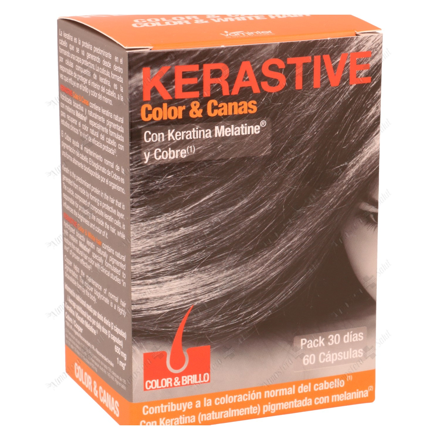 KERASTIVE COLOR & CANAS 60 CAPS- 183661 -  VAMINTER